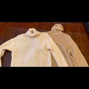 Chunky knit turtleneck sweaters. 2 for $20!